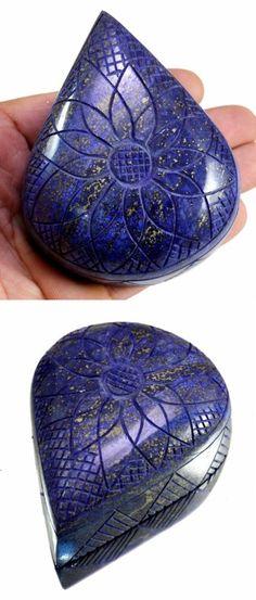 Lapis Lazuli 10235: 1843Ct Big Huge Natural Floral Art Work Hand Carving Lapis Lazuli Loose Gemstone BUY IT NOW ONLY: $36.74