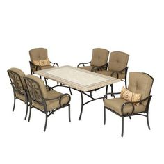 Martha Stewart Living - Captiva II 7 Piece Dining Set - 2-11-806-DSET2 - Home Depot Canada - Back Deck