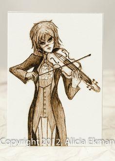 ACEO Violin Close Up Original Artwork Print  $3.50