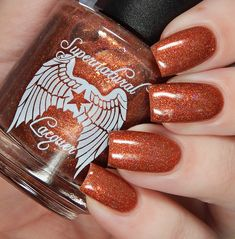 Supernatural Lacquer - Pretty Cunning, Don't Ya Think? Supernatural Nails, Metallic Colors, Nail Polish Colors, Manicure And Pedicure, How To Do Nails, Swatch, September, Pretty, Fun