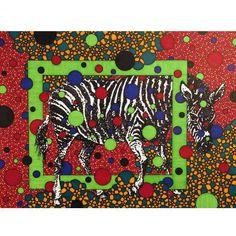 Zebra 8x10 reproduction print. $24.00, via Etsy.