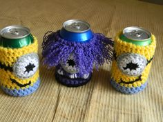 Minion Cold Drink Cozies