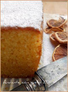 Orange cake with rice flour