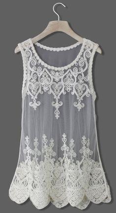 Baroque lace top