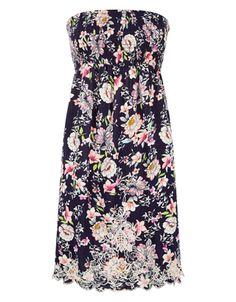 Jasmine Floral Bandeau Dress