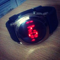 My LED Watch :-) my best mate since 2k10 <3
