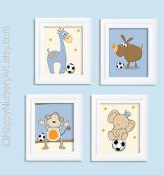 art for nursery Baby art posters Soccer nursery by HappyNurseryArt