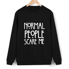 cc8733bf0 Normal Limited New People Scare Me Print 2017 Autumn Hoodies Women Casual  Chandal O-neck
