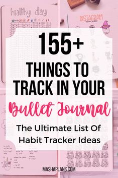 The ultimate list of things to track in your Bullet Journal. Get Bullet Journal inspirations and ideas for your own habit trackers. Learn from this list what you can track and how Bullet Journal habit tracker can help you make all sides of your life bette Bullet Journal Tracker, Digital Bullet Journal, Bullet Journal Printables, Bullet Journal How To Start A, Journal Template, Bullet Journal Ideas Pages, Bullet Journal Inspiration, Bullet Journals, Bullet Journal Ideas Templates