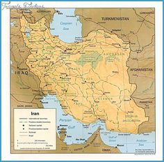 Iran Map Tourist Attractions - http://travelsfinders.com/iran-map-tourist-attractions.html