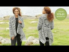 How to crochet A.1 for the square jacket in DROPS 173-31 - YouTube