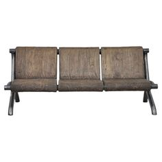 I LOVE this stuff!! =D Iron and pine wood sofa with a distressed natural finish.   Product: SofaConstruction Material: Pine wood and i...