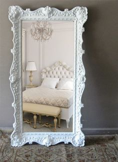 Fabulous Bedroom Mirror Idea | This is a truly authentic antique mirror with extraordinary design and can definitely provide your room with unique and elegant atmosphere. ➤ Discover the season's newest designs and inspirations. Visit us at http://www.wallmirrors.eu #wallmirrors #wallmirrorideas #uniquemirrors @WallMirrorsBlog