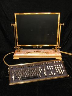 Computer make overs - Steampunk computer - This would look perfect right Here from http://www.holytaco.com/25-awesome-steampunk-creations/