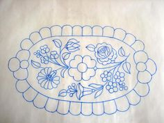 Riselhető futó 2 Hungarian Embroidery, Rose Embroidery, Vintage Embroidery, Embroidery Stitches, Embroidery Patterns, Kerala Mural Painting, Embroidery Transfers, Crochet Diagram, Tapestry
