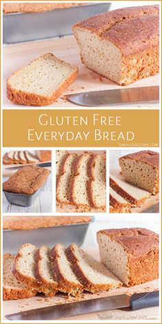 If you want an easy, quick, and simple Gluten Free bread recipe, look no further. This bread is great for toast, sandwiches, and everyday use. It is light and tender and we are sure your family will love it as much as our does! | SimpleFood365.com