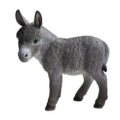 Hi-Line Gift Ltd. Standing Donkey Statue & Reviews | Wayfair Garden Animal Statues, Garden Animals, Garden Statues, Farm Animals, Baby Donkey, The Donkey, Orange Kittens, Outdoor Statues, Dalmatian