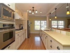 Open Galley Kitchen Designs awesome before and after house, took at 1960's relic and turned it