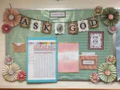 2017 LDS Young Women Theme Bulletin Board Ask of God