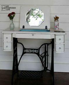 Meuble machine a coudre en maquilleuse meuble d co for Maquilleuse meuble
