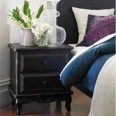 Amore 2 Drawer Bedside Table