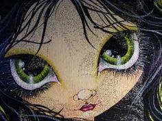 Green Eye Girl Painting Megan Suarez
