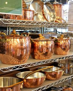 Copper cookware makes my heart race. Williams Sonoma Outlet