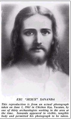 """JESUS/SANANDA Known as """"The Cosmic Christ"""", and many other labels such as Sananda Maitreya,  Esu Immanuel, Pale Prophet…etc. This figure comes as the Son of GOD, Son of Man. Why use both names? Sananda Maitreya?? Is this the persona of both figures?  The name Sananda is supposedly his cosmic name for Jesus. Do Not Be Fooled."""