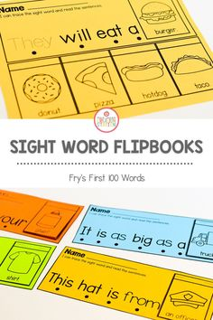 This sight word flip book is a great resource to use in small group for sight word reading practice. Have learners cut, staple, and read the flipbooks to promote sight word fluency and automaticity. #sightwords #kindergarten #firstgrade #wordfluency Word Reading, Reading Practice, Reading Fluency, Teaching Reading, Learning, Fry Sight Words, Sight Word Sentences, Teaching Sight Words, Cvc Words