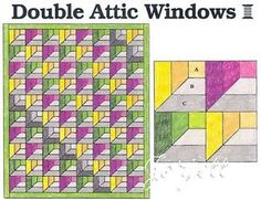 attic window block pattern | ATTIC WINDOWS QUILT PATTERNS « FREE Knitting PATTERNS