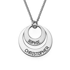 This Just For You Two Disc Necklace is an ideal gift for Mom's, Grandmother's and girlfriends.