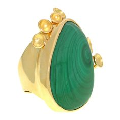 Modernist Malachite Ring image 3