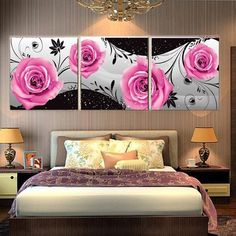 Roses Canvas Set