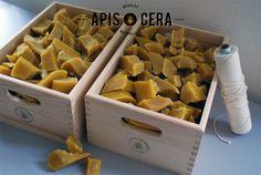 Bougies naturelles en cire d'abeille 100% naturelles et fait main: www.apiscera.com