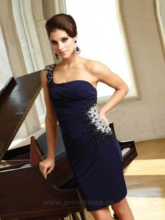 94e7b1cdf8 Sheath Column One Shoulder Sleeveless Short Mini Chiffon Cheap Homecoming  Dresses Short Cheap Prom Dresses - Cocktail Dresses - Speci.