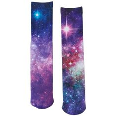 Men's Urban Pipeline® Galaxy Sublimated Crew Socks ($10) ❤ liked on Polyvore featuring men's fashion, men's clothing, men's socks, purple, mens crew socks, mens purple socks, mens socks and mens patterned socks