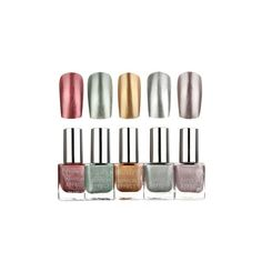 5 Colors 10ML Metallic Mirror Specular Effect Metal Silver Nail Art... ($4.35) ❤ liked on Polyvore featuring beauty products, nail care, nail polish, nail gel & polish, silver, art nail polish, gel nail color, shiny nail polish and sticker nail polish