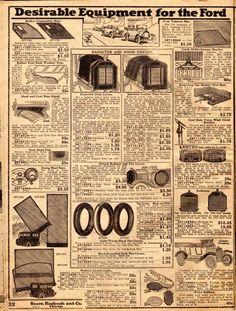Model T Ford Forum: Circa. 1919 Sears Auto Parts catalog/leaflet (entire catalog) Auto Parts Catalog, Retro Ads, Ford Models, Car Parts, Illustrators, Dorm, Automobile, Vintage World Maps, Advertising