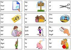 Irregular verbs straightforward - Games to learn English English Time, English Verbs, English Study, English Class, English Lessons, English Vocabulary, English Grammar, Learn English, English Language Learning