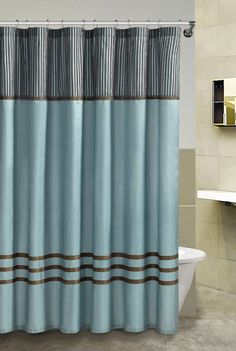 Poetica Faux Silk Aqua Blue Teal Brown Turquoise Fabric Bathroom