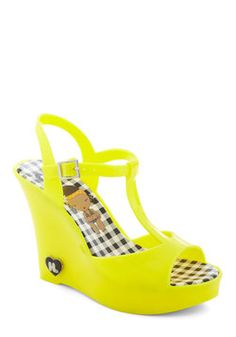 Show Starting Heel in Yellow, #ModCloth $40