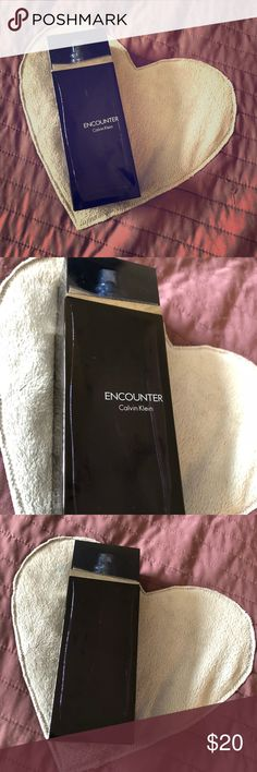 "Calvin Klein ""Encounter"" Cologne! 6.2 oz!!!! Hi! Thanks for taking a look! This is an authentic bottle of Calvin Klein encounter mens cologne! It has be used about 1/3 of the way so there is still at least 4-4.5 oz in the bottle so this price is a steal! Calvin Klein Other"