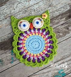 I don't even know how this all happened. Crochet Owls, Crochet Potholders, Love Crochet, Crochet Animals, Crochet Motif, Crochet Flowers, Crochet Stitches, Crochet Baby, Knit Crochet