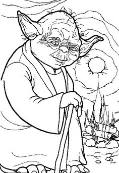 star wars coloring page yoda