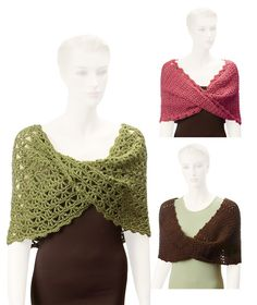 These beautiful mobius wraps are made with elegant lace patterns, and are perfect for every occasion from casual to formal. These designs can be made with any yarn with appropriate hook size, and can be made to fit any size. Skill levelIntermediateSizeThese designs can be made to fit any size.MaterialsCan be made with any yarn with appropriate hook size. Items shown were made with Red Heart Soft.**NOTE** this is a crochet pattern, not the finished wraps