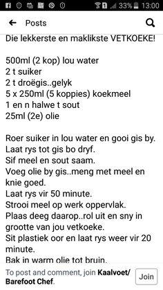 Bread Recipes, Baking Recipes, Easy Recipes, Easy Meals, Lekker Dag, South African Recipes, Afrikaans, Kos, Bakery
