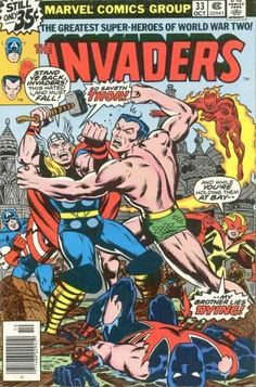 THE INVADERS 33 CAPTAIN AMERICA, SUB-MARINER, HUMAN TORCH, BRONZE AGE MARVEL COMICS GROUP