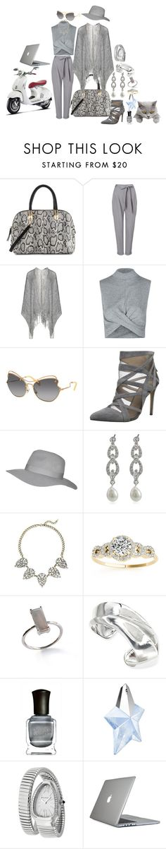 """""""Cool chic gray matter"""" by blujay1126 ❤ liked on Polyvore featuring Cole Haan, Phase Eight, Frapp, Topshop, Miu Miu, Joe's Jeans, Carolee, Saks Fifth Avenue, Allurez and Alexis Bittar"""
