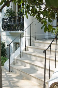 Examples of Portland Stone steps and doorsteps