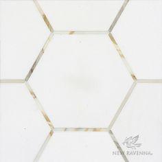 Possible floor in Calacatta hex and Bardiligio/Carrara edge (grey-blue/grey)